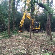 mulcher attachment for vegetation clearance