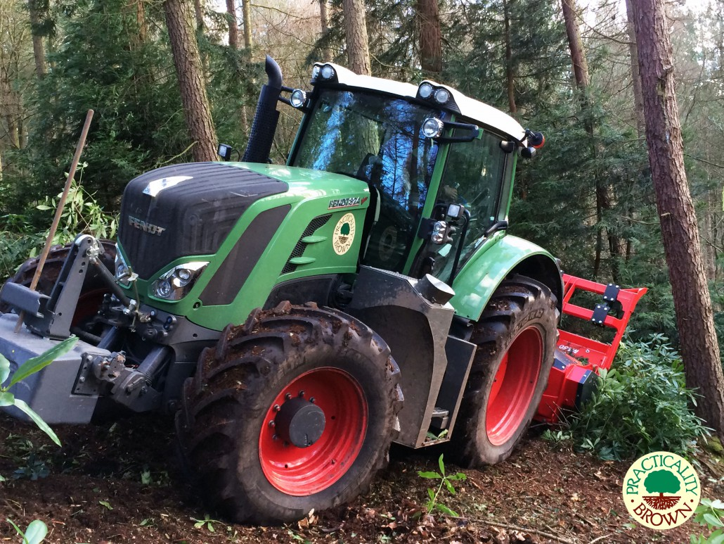 Ahwi M650 Mulcher On Fendt 824 Tractor Practicality Brown