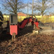 land clearance stump grinder