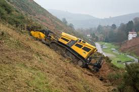 Remote Control mulcher on strep slope