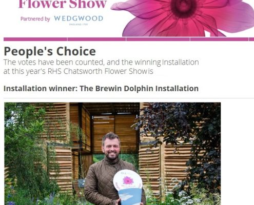 Winner at RHS Chatsworth Show 2018