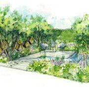 RHS Hampton Lifestyle Garden by Thrift Landscapes