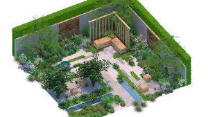 Amelia Bouquet garden design at Hampton Court